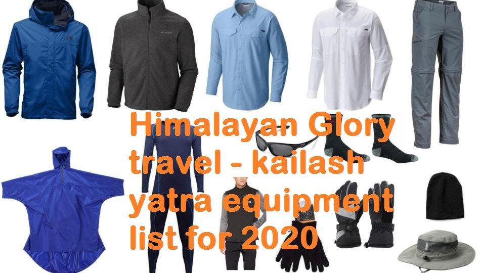 Packing list for Kailash Mansarovar Yatra